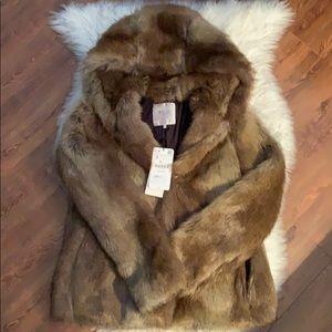 NWT Zara fur coat